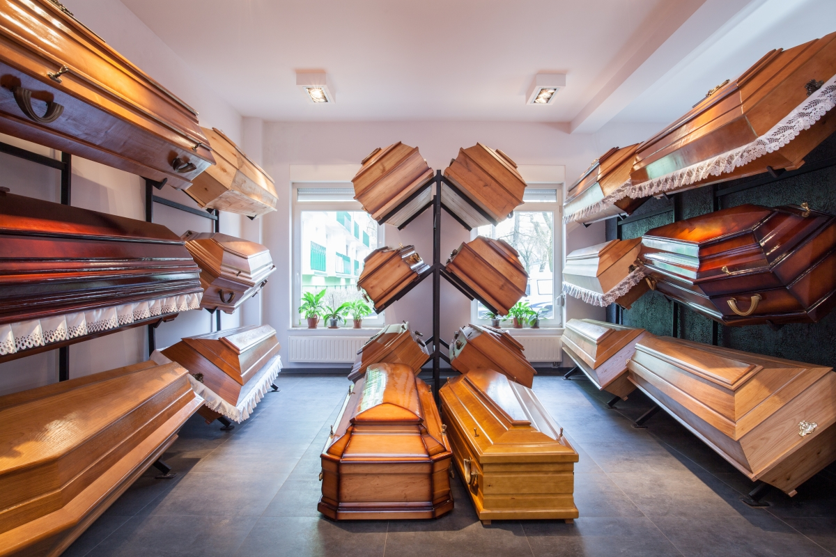 Coffin display room
