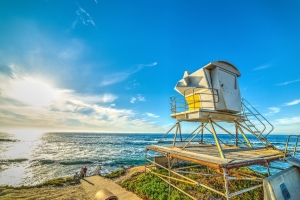 Life guard tower looking out over the ocean as a metaphor for our firm looking out for your best interest.